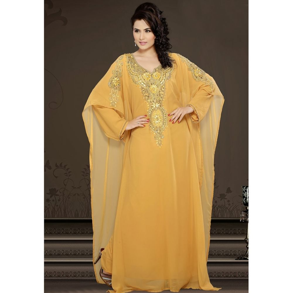 Womens Kaftan Orange color Popular