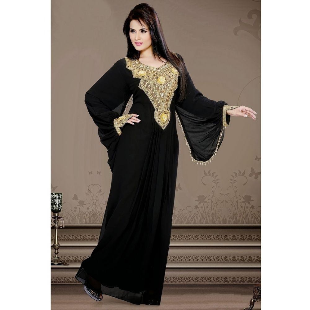Womens Kaftan Black color Popular
