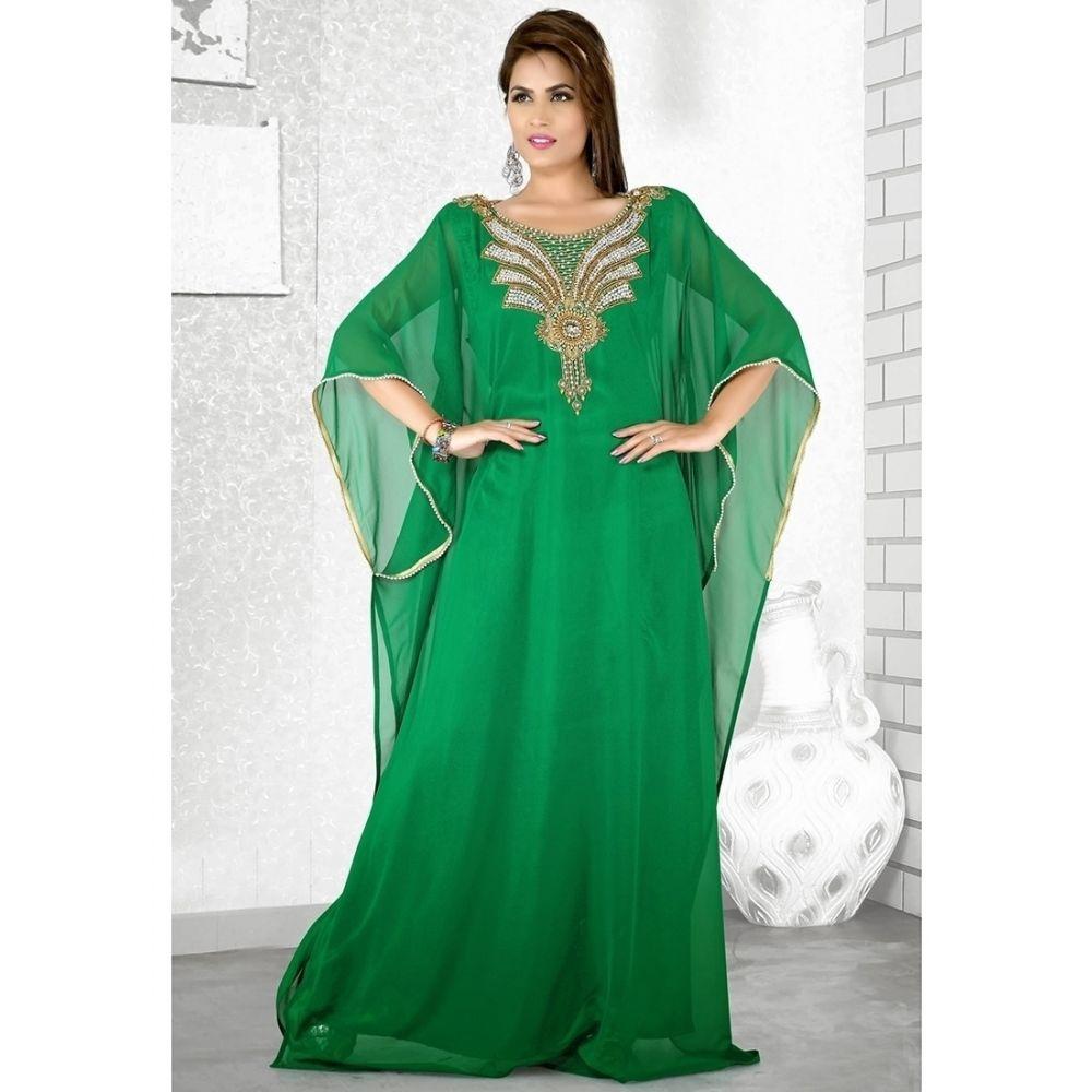 Womens Kaftan Green color Popular