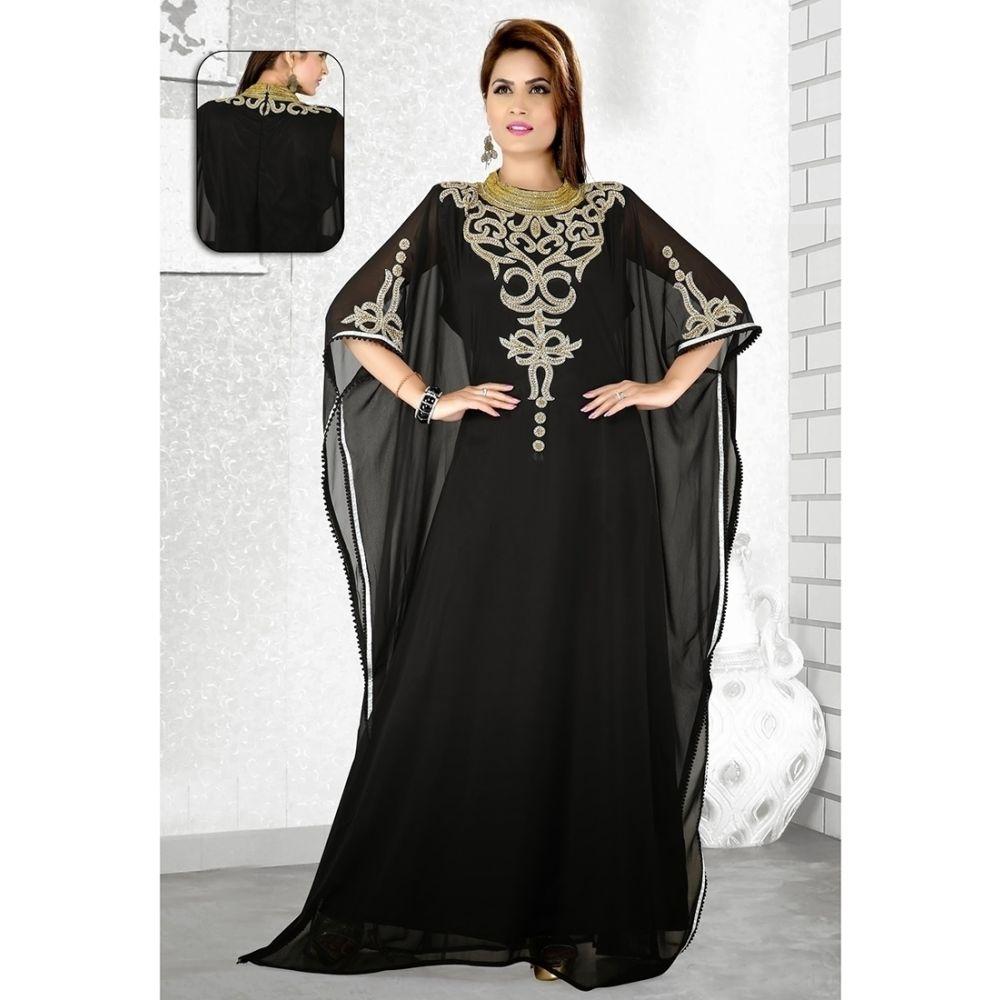 Womens Kaftan Black color Partywear