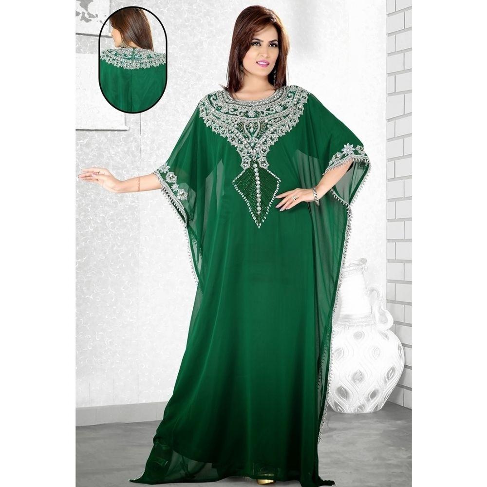 Womens Kaftan Green color Fancy style