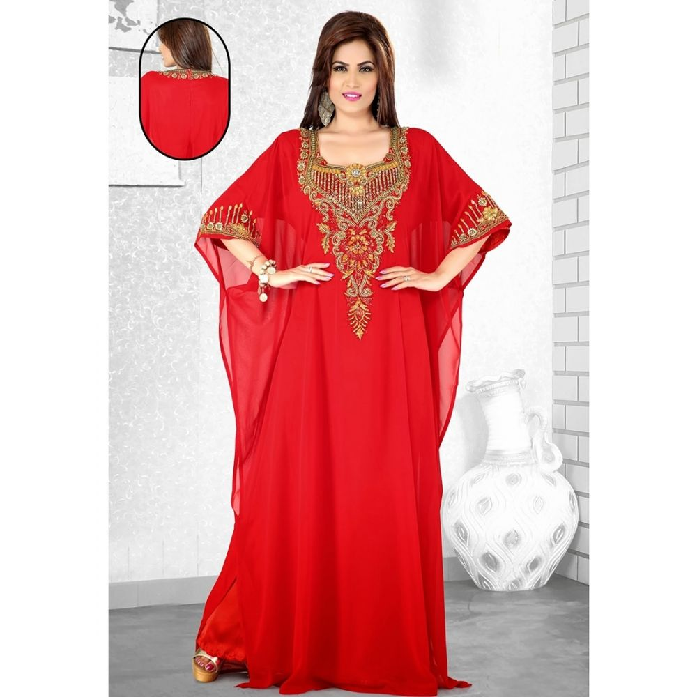 Womens Kaftan Red color Formal Dresses