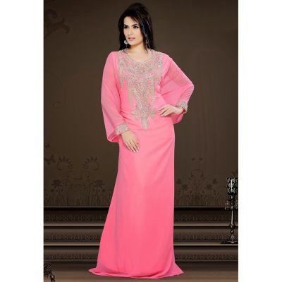 Womens Kaftan Pink color Designer wear