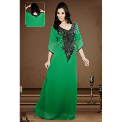 Womens Kaftan Green color Modern Style