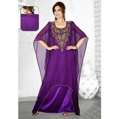 Womens Kaftan Purple color Modern Style