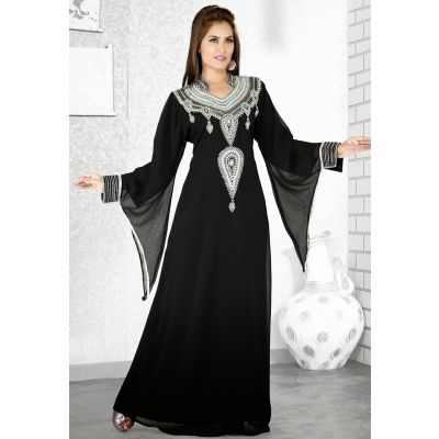Womens Kaftan Black color Fancy style