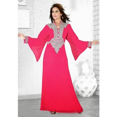 Womens Kaftan Red color Partywear