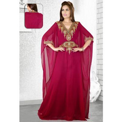 Womens Kaftan Transparent color Saudi Arabic style