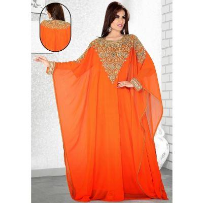 Womens Kaftan Orange color Modern Style