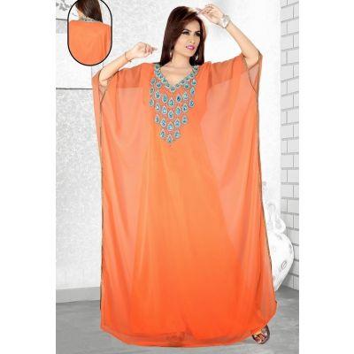 Womens Kaftan Orange color Fashionable