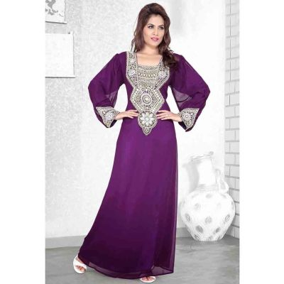Womens Kaftan Multicoloured color Arabic Evening wear