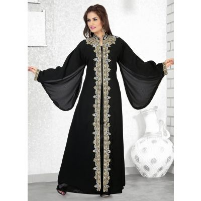 Womens Kaftan Black color Long Partywear