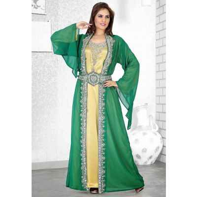 Womens Kaftan Green color Stylist