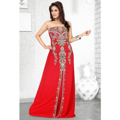 Womens Kaftan Red color Arabic Evening wear