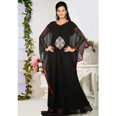 Womens Kaftan Black color Arabian Design wear