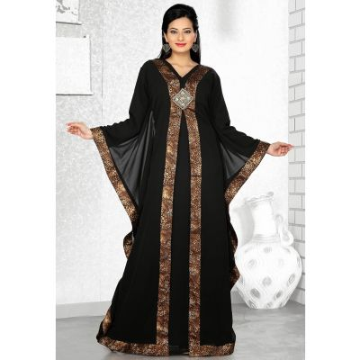 Womens Kaftan Black color Stylist