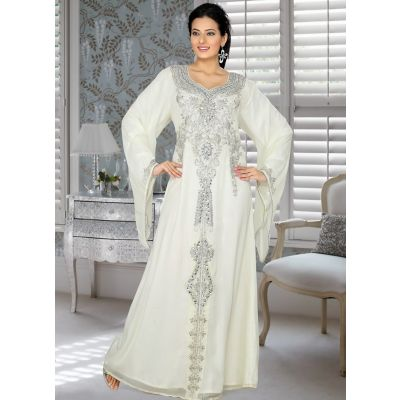 Womens Kaftan Off White color Fancy style