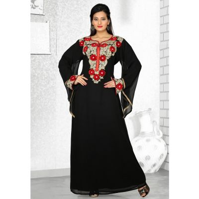 Womens Kaftan Black color Formal Dresses