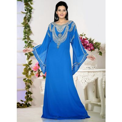 Womens Kaftan Blue color Partywear