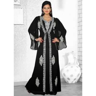 Womens Kaftan Black color Designer wear