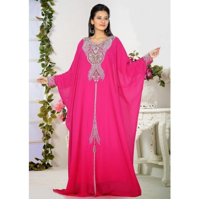 Womens Kaftan Pink color Stylist