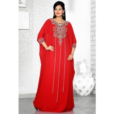 Womens Kaftan Red color Fashionable