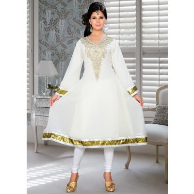 Womens Kurti Off White color Fancy style