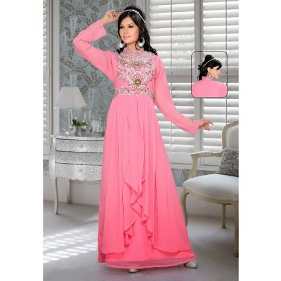 Womens Kaftan Pink color Arabian Design wear
