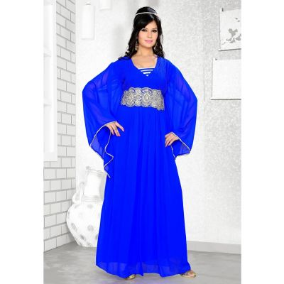 Womens Kaftan Blue color Formal Dresses