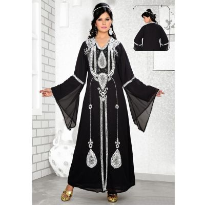 Womens Kaftan Black color Modern Style