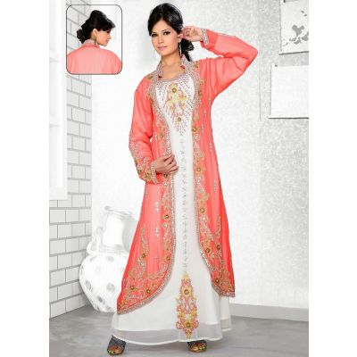 Womens Kaftan White color Arabic Evening wear