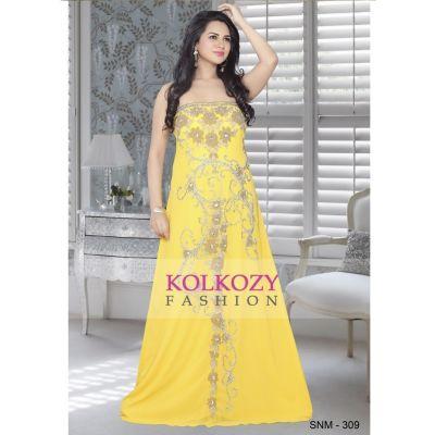 Yellow color Kaftan-Georgette Kaftan