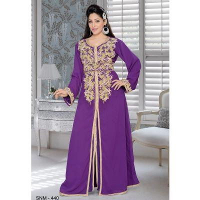 Purple color Kaftan-Georgette Kaftan