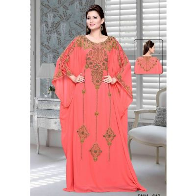 Orange color Kaftan-Georgette Kaftan