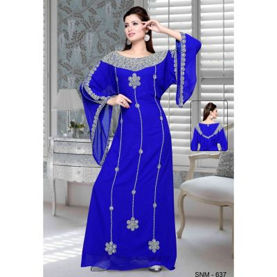 Blue color Kaftan-Georgette Kaftan