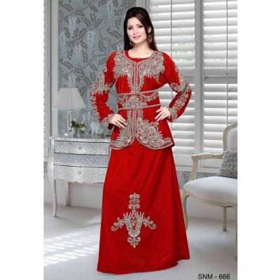 Red color Kaftan-Georgette Kaftan