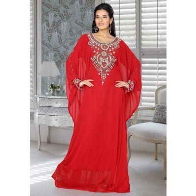 Womens Kaftan Red color Designer wear