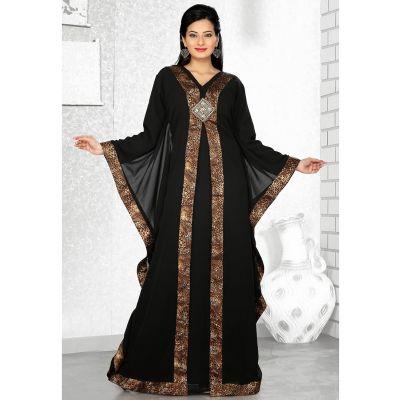 Womens Kaftan Black color Stylist