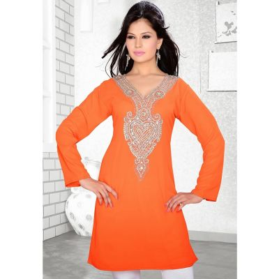 Womens Kurti Orange color Stylist