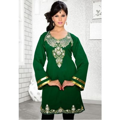Womens Kurti Green color Fashionable