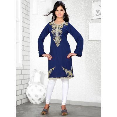 Womens Kurti Blue color Fancy style