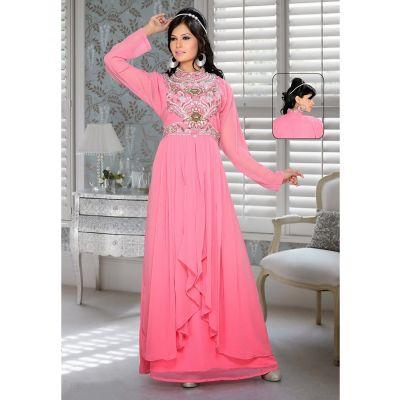 Womens Kaftan Pink color Arabian Design wear