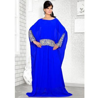 Womens Kaftan Blue color Arabic Evening wear