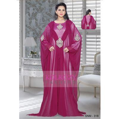 Pink color Kaftan-Georgette Kaftan