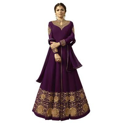 Melodic Purple Georgette Salwar Kameez