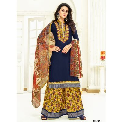 Women Salwar Kameez Multicoloured color Plazzo Suits