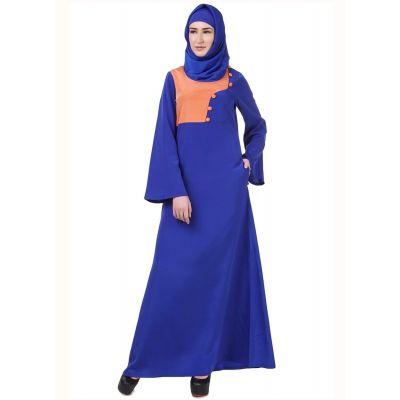Womens Abaya Blue Color Rubiya