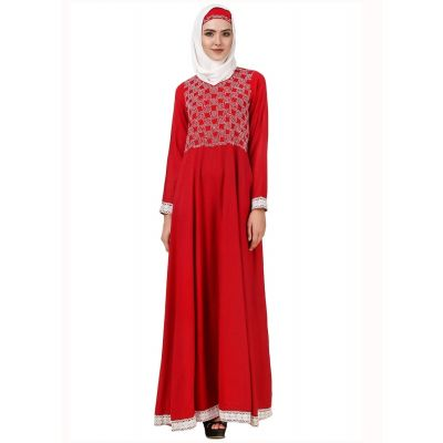 Womens Abaya Red Color Graceful
