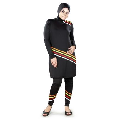 Black color Womens-Poly Knit Womens Burkini
