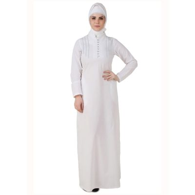 Womens Abaya White Color Flamboyant